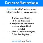 Lección 5. Elementos más importantes en Numerología