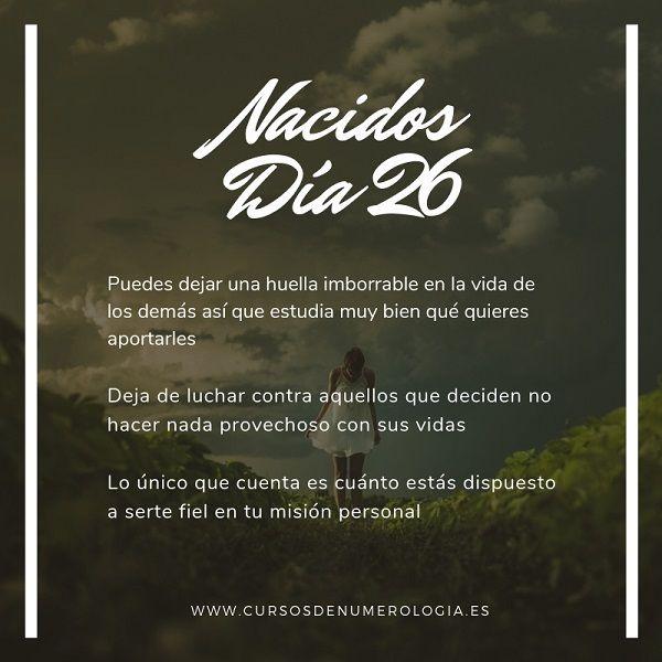 nacer dia 26