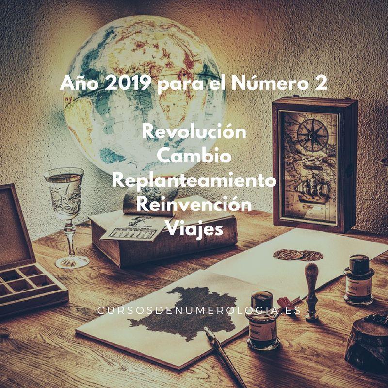 número 2 en el año 2019