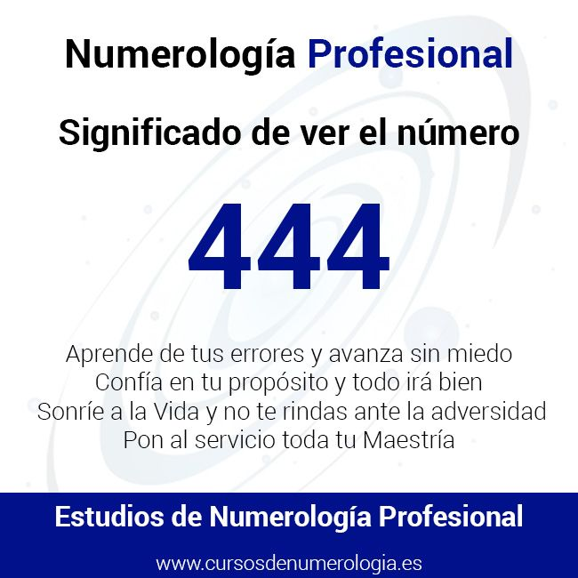 Significado del Número 444  Mensajes de ver el Número 444