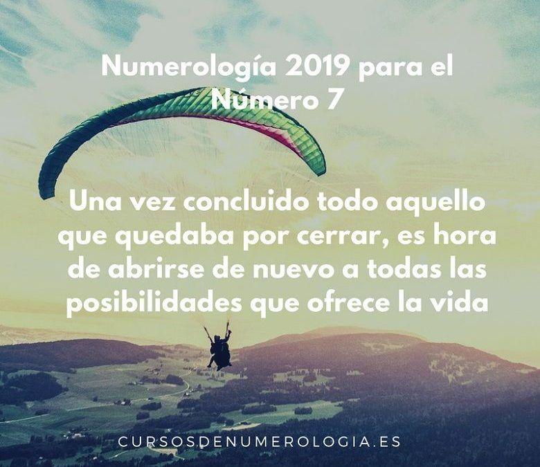 Año 2019 Para el Número 7