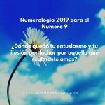 Año 2019 Para el Número 9