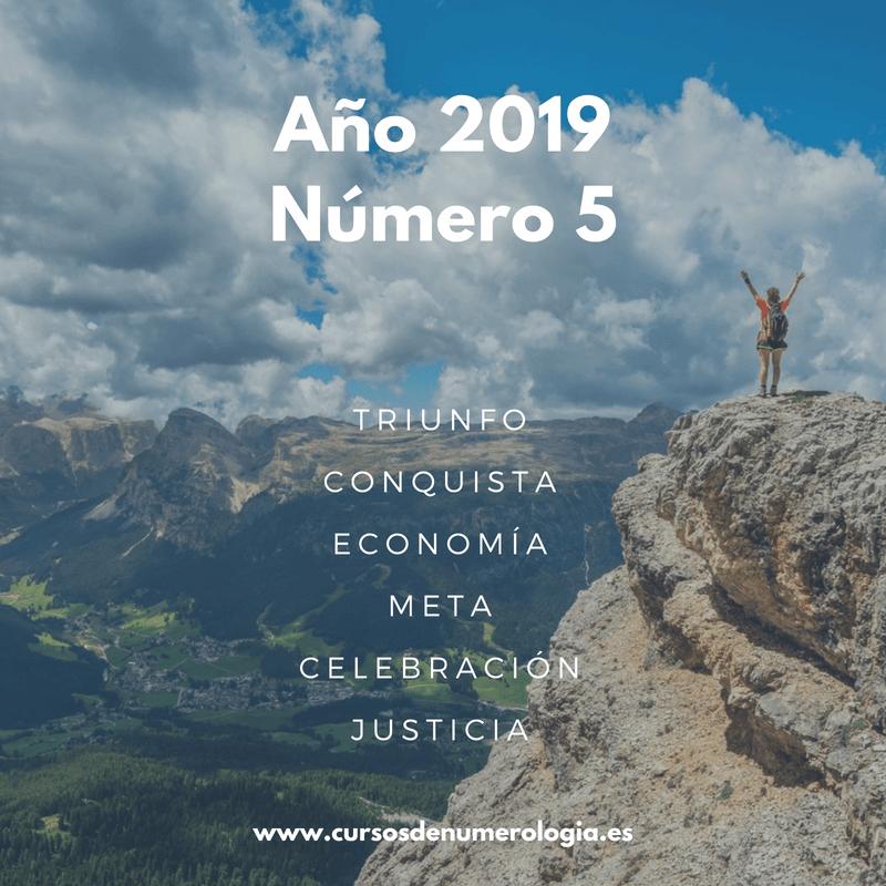 año numerológico 2019 para el número 5