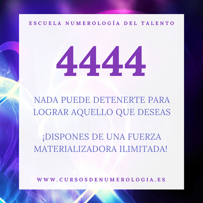 número 4444