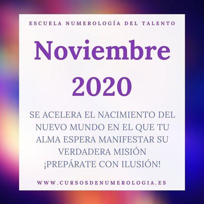 noviembre 2020 numerologia
