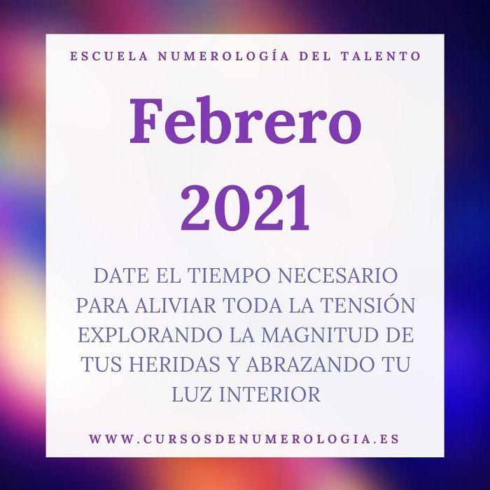 numerologia febrero 2021