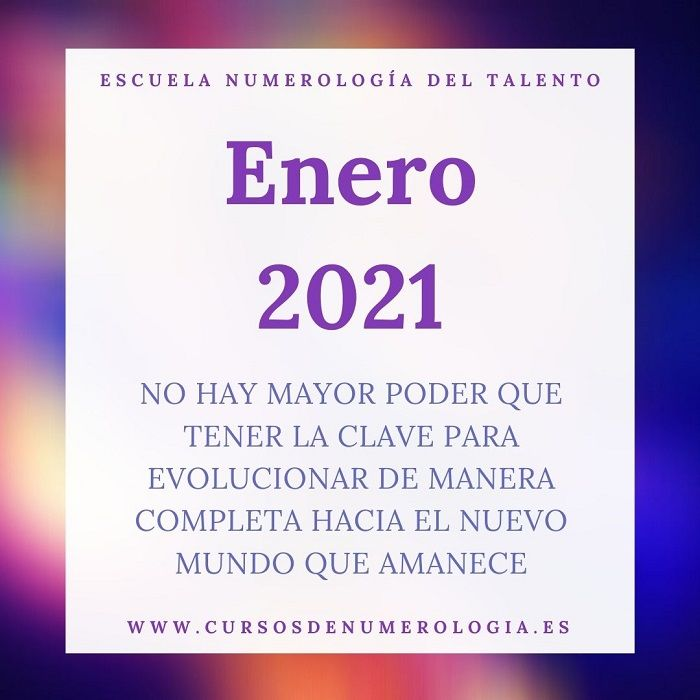 numerologia enero 2021
