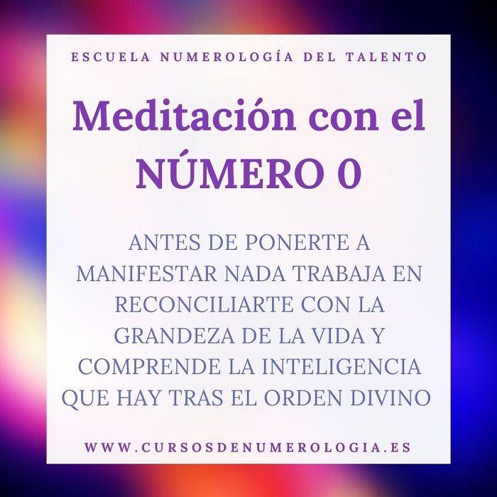 meditación guiada con el número 0