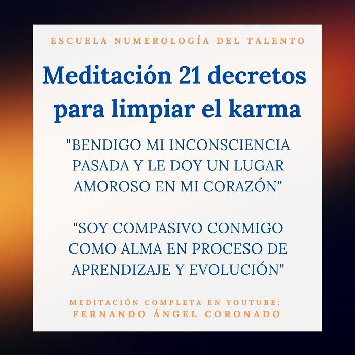 meditación para sanar el karma