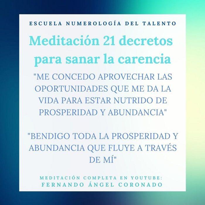 meditación para sanar la carencia