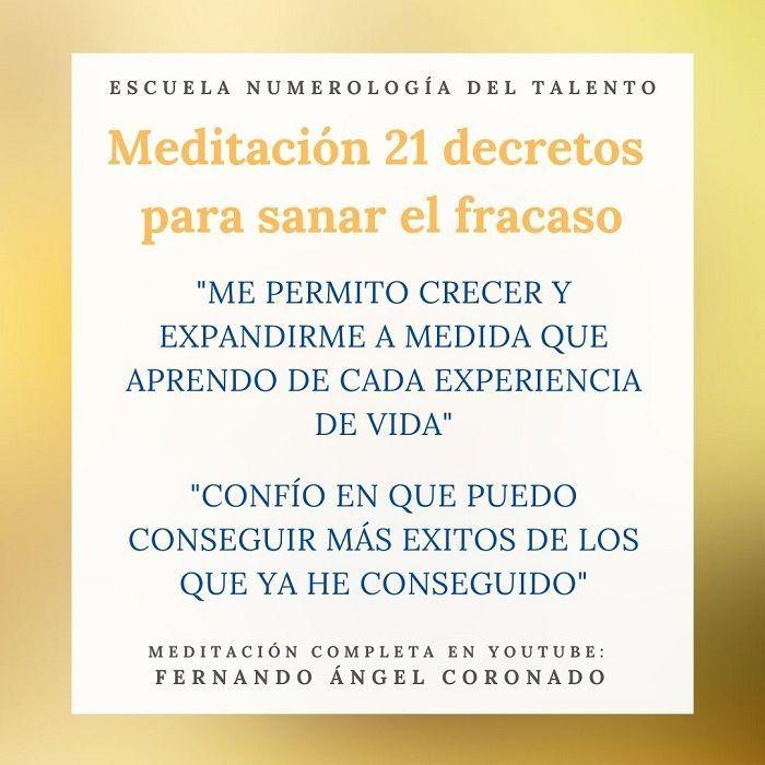 meditación para sanar la herida de fracaso