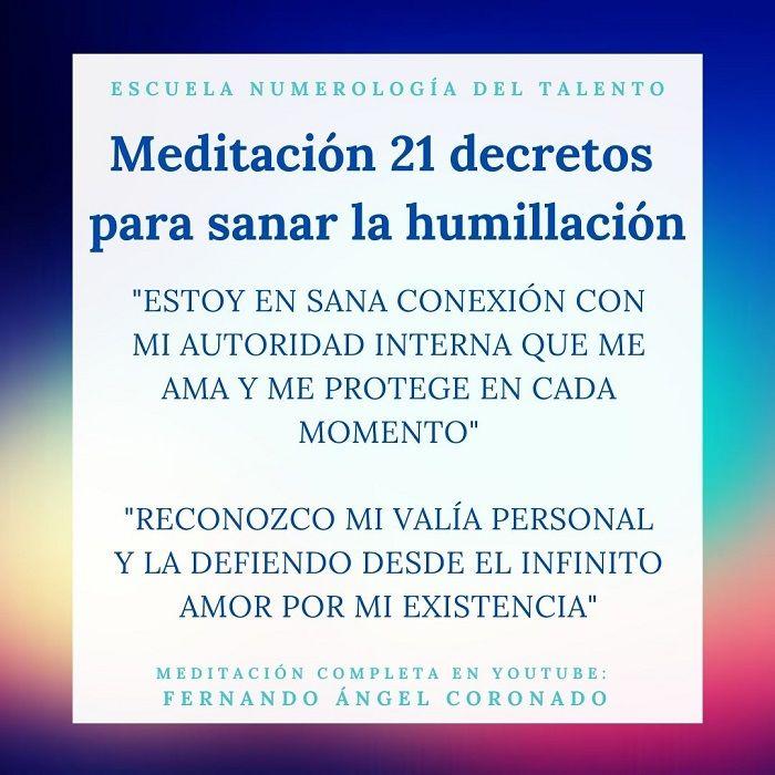 meditación para sanar la humillación
