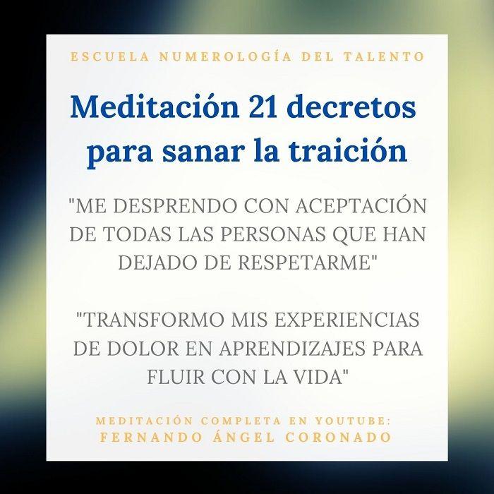 meditacion para sanar la traición